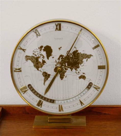 world time zone desk clock big kienzle weltzeituhr modernist table world timer zone