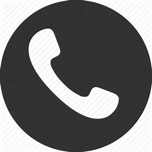 Call circle handset phone telephone tube icon