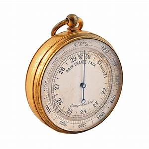 Edwardain Antique Barometer | Antique Pocket Barometer
