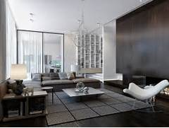 Modern Contemporary Living Rooms by Modern House Interiors With Dynamic Texture And Pattern