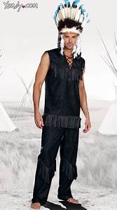 Chief Wansum Tail Costume Indian Chief Costume Mens Native American Costume