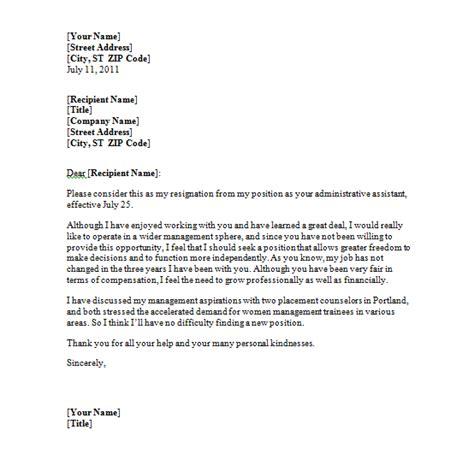 simple resignation letter template  resign