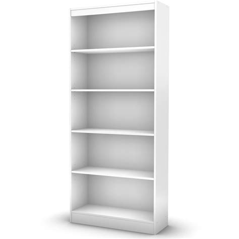 White Wood Bookcase by 5 Shelf Bookcase Black White Gray Brown Storage Bookshelf