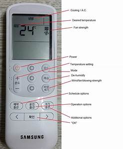 English Guide To Korean Air Conditioner Remote Controls
