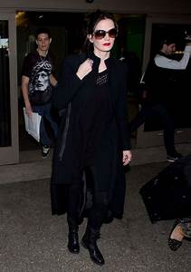 Eva Green Style Arrives At LAX Airport Jan 2014