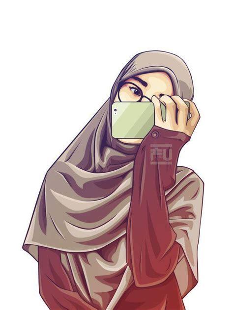 gambar animasi wanita hijab cantik tutorial hijab terbaru