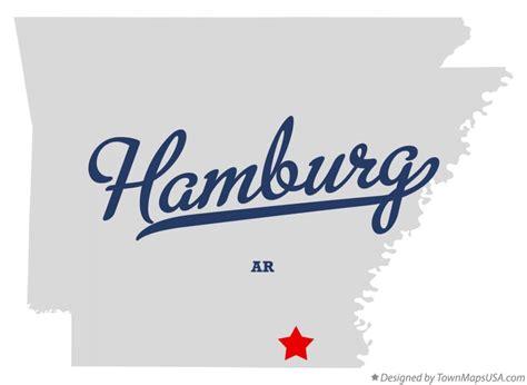 Map of Hamburg, AR, Arkansas