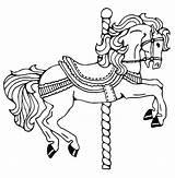 Carousel Coloring Horse Pages Printable Drawing War Animals Memory Horses Childhood Getcolorings Jockey Template Emejing Getdrawings Books Dala Swedish Flying sketch template