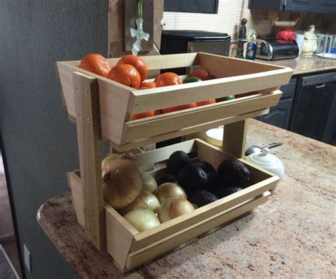easy fruitveggie holder diy crafts easy woodworking