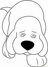 Clifford Dog Coloring Sad Pages Drawing Face Coloringpages101 Printable Drawings Getdrawings Comics Getcolorings sketch template