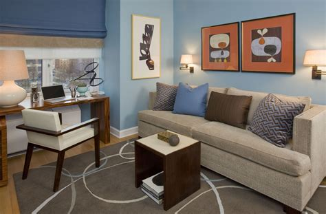 glamorous futon sofa trend york contemporary home office decoration ideas with blue and