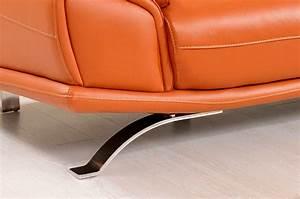 modern orange leather sectional sofa ef533 leather With orange leather sectional sleeper sofa