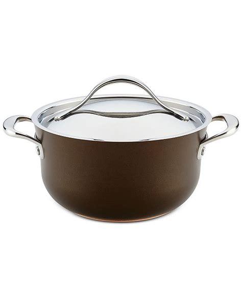 anolon nouvelle  qt copper luxe sable hard anodized  stick casserole reviews cookware