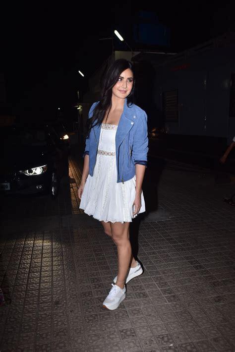 katrina kaif   ways  rock  mini white dress