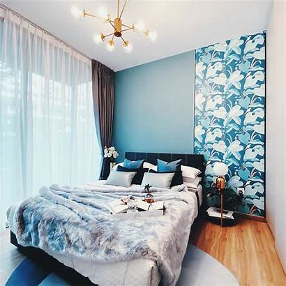Bedroom Texture Singapore Focal Wallpapers Point Turquoise
