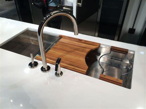 kitchen sink cutting board new sink cutting board colander holder by kallista 5692