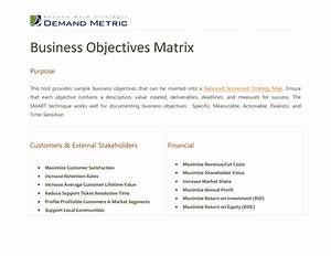business objectives template pictures to pin on pinterest With company goals and objectives template