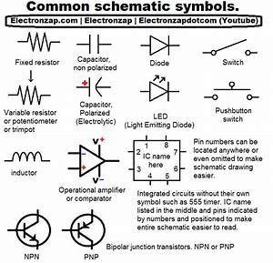 Common Electronics Component Schematic Symbols  In 2019