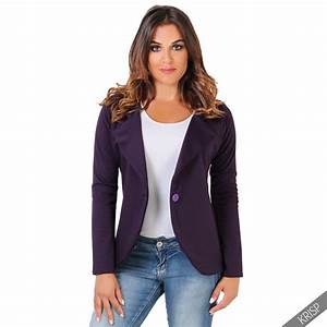 KRISP Womens Slim Fit Casual Smart Jersey Blazer Ladies ...
