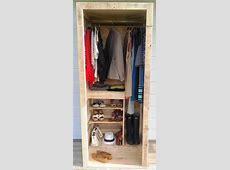 Built a Pallet Wardrobe or Pallet Closet