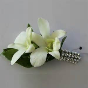 orchid wrist corsage prom boutonniere white www pixshark images