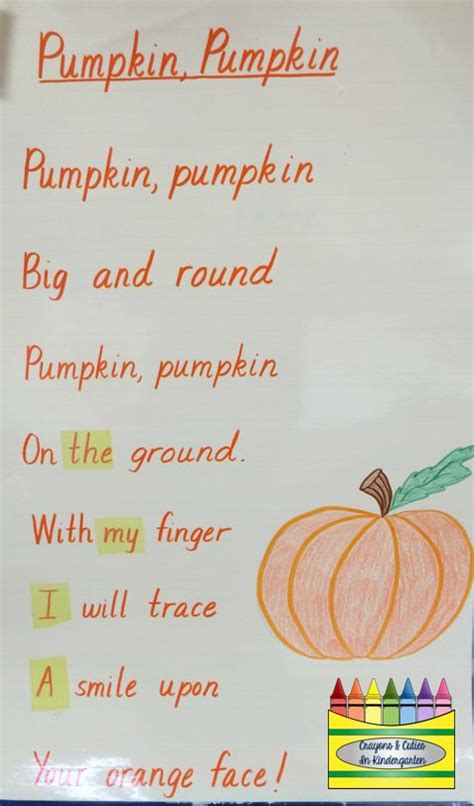 pumpkin rhymes preschool 17 best images about school days poems on 744