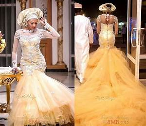 african traditional wedding dresses 2015 gold tulle pearls With white wedding dress tradition