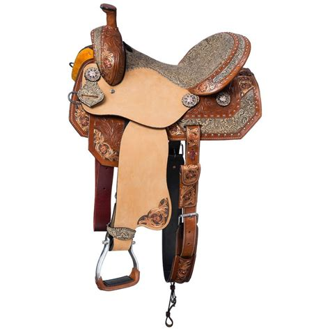 barrel saddle silver royal saddles jameson western racing package southern charm leather 5pc horseloverz crystal statelinetack rover