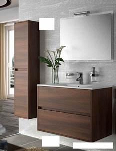 Meuble Tiroir Salle De Bain : meubles lave mains robinetteries meuble sdb meuble de salle de bain 80 cm noja 800 2 tiroirs ~ Teatrodelosmanantiales.com Idées de Décoration