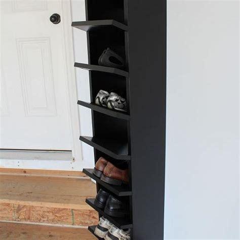 garage shoe storage hometalk custom built diy shoe rack for our garage