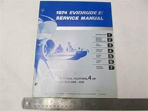 1974 Evinrude Outboard Service Manual 4 Hp Lightwin