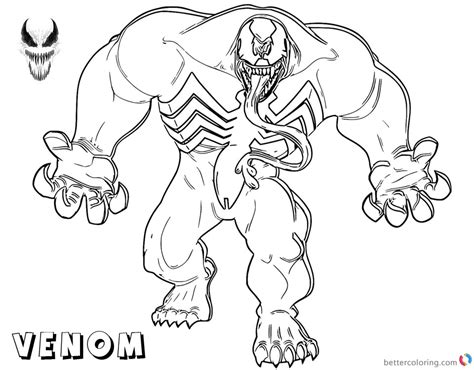 venom coloring pages strong venom fanart  printable