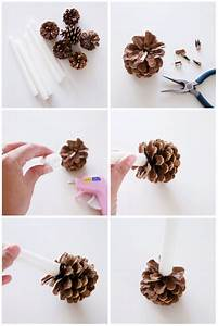 DIY Pine Cone Candle Holders - I Heart Nap Time