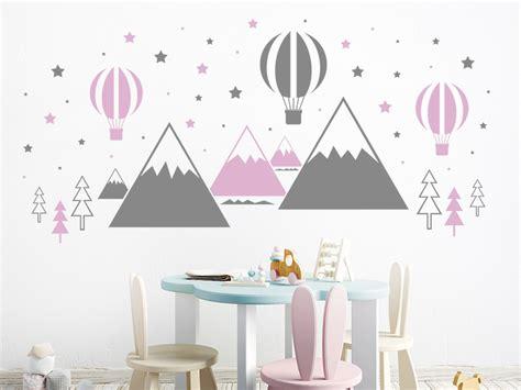 Wandtattoo Kinderzimmer Berge by Wandtattoo Hei 223 Luftballons Und Berge Wandtattoo De