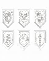 Nexo Knights Lego Shields Coloring Fun Pages Knight Shield Sketchite Sketch Larger Credit Boy Zdroj Pinu Party Zapisano sketch template