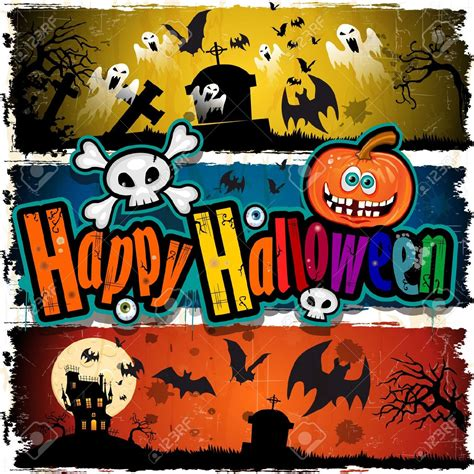 halloween banner cartoon festival collections
