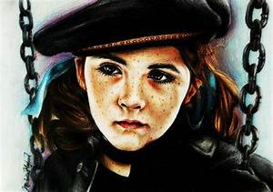 Esther (Orphan) coloured portrait by MichellyMe on DeviantArt