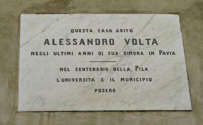 Volta Pagina Pavia by Lapide Sulla Casa Di Alessandro Volta Guida Pavia Wiki