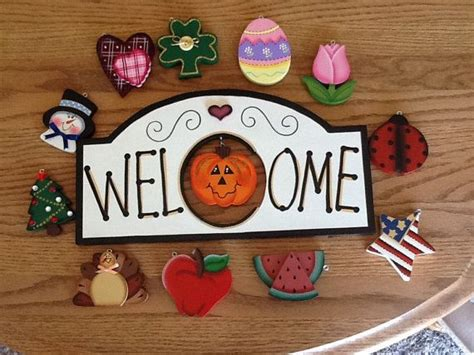 monthly interchangeable wooden  sign wooden