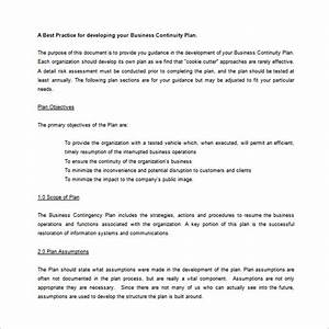 Contingency plan template 9 free word pdf documents for Emergency response plan template for small business