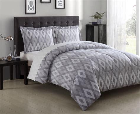 Essential Home Textured Diamond Microfiber Comforter Set