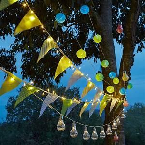 Guirlande Lumineuse Jardin : guirlande solaire 5m 15 lampions chinois color s multicolore rondou eclairage solaire ~ Melissatoandfro.com Idées de Décoration