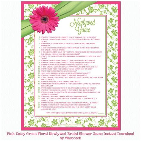 Newlywed For Bridal Shower - pink green white floral ribbon bridal shower