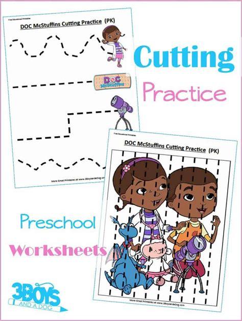 doc mcstuffins preschool cutting practice 3 boys and a 154 | Doc McStuffins Preschool Cutting Practice Worksheets