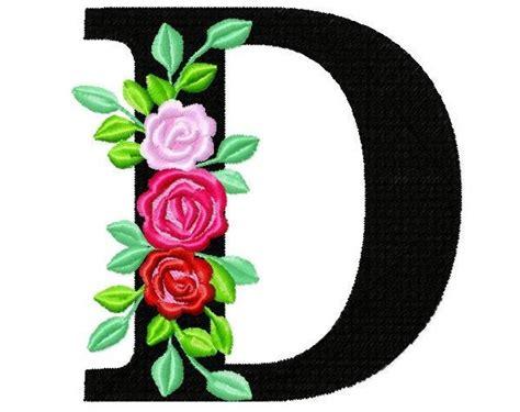 roses floral individual letter  garden flag monogram