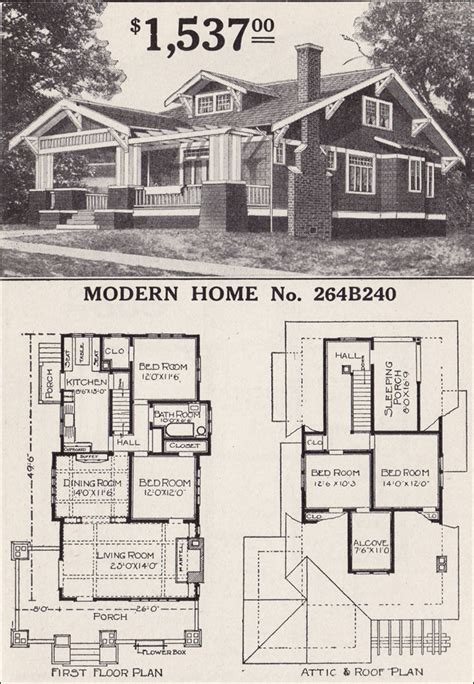 sears bungalow  bedroom sears craftsman bungalow home plans craftsman house floor plans