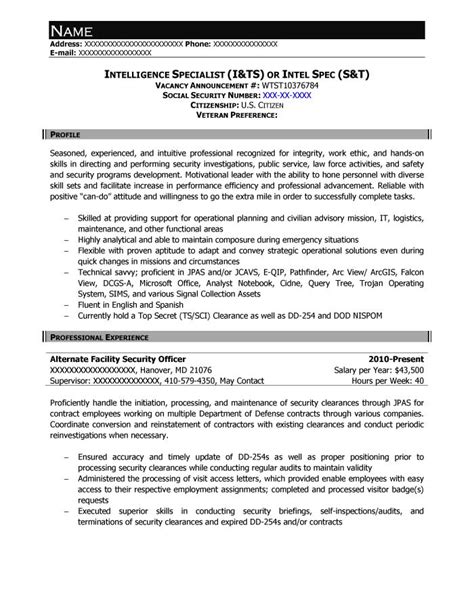 delighted federal resume writing companies free federal resume sle from resume prime