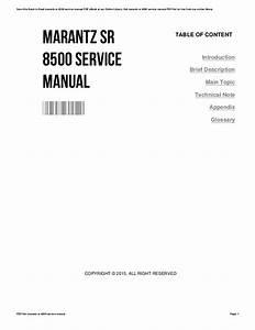 Marantz Sr 6300 Service Manual