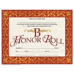 honor roll certificate pack downloadable templates