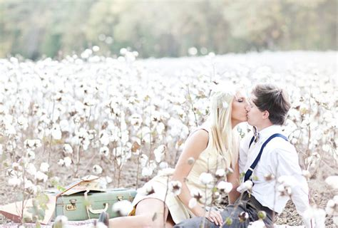 dreamy engagement session   cotton field ali